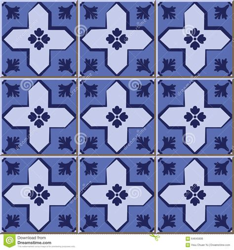 pattern tiles web vintage seamless wall tiles of blue cross geometry
