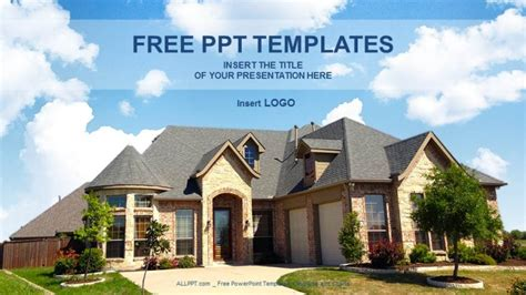 Architecture Home Real Estate Ppt Templates Real Estate Powerpoint Template
