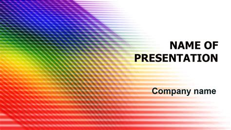 lines and colors colors lines powerpoint template for impressive