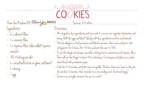printable recipes for sugar cookies paleo sugar cookies