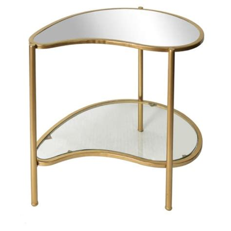 kidney shaped accent table athena gold kidney shaped accent table by crestview ls