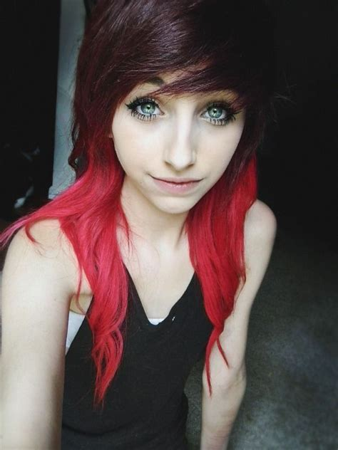 dyed emo hairstyles emo hair hair dye colors and hairstyles for me pinterest