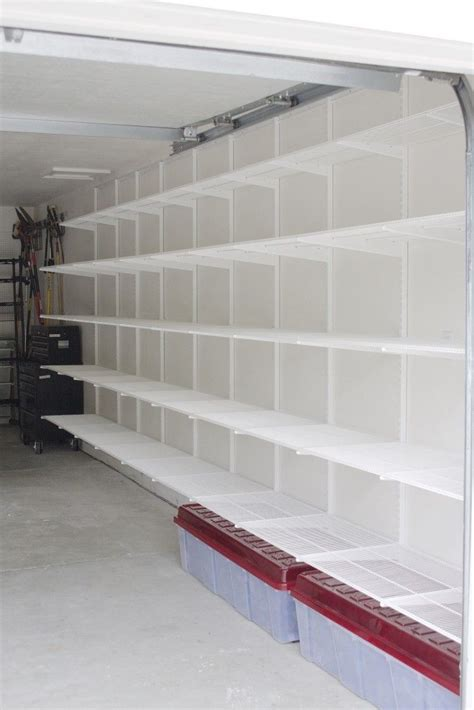 shelving for garage walls best 25 basement storage ideas on storage