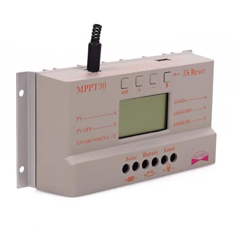 Mppt Solar Charge Controller 30a Pwm Auto 12v 24v sale 30a mppt lcd solar charge controller 12v 24v 380w 760w solar panel regulator auto work