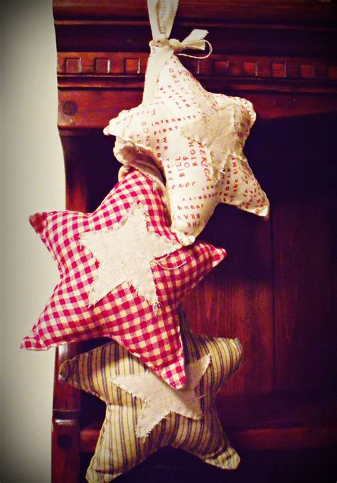 3 pc primitive americana country holiday decorations