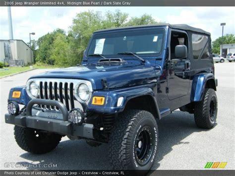 midnight blue jeep 2006 jeep wrangler unlimited 4x4 in midnight blue pearl