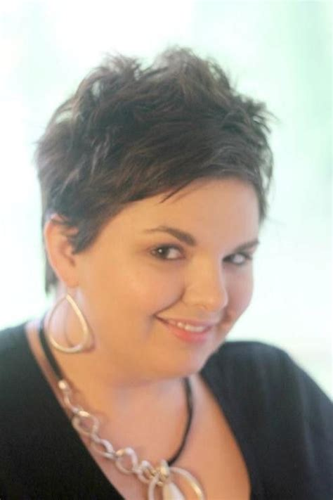 spiky pixie hairstyles for overweight women plus size women short hairstyles haircuts gallery