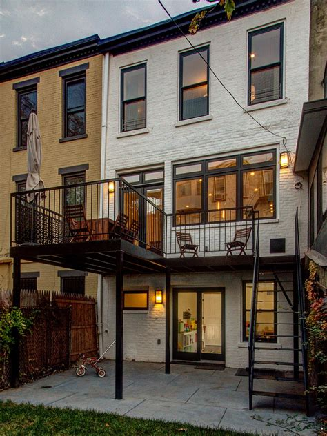 color house nyc brownstone back deck and patio hgtv