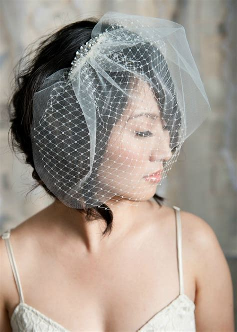 Wedding Updos With Birdcage Veil | short wedding hairstyles with birdcage veil siji elite