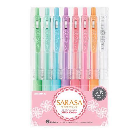 Sarasa Milk 5 Color Set japanese sarasa milk color gel pen set kawaii pen shop