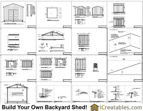 Free 12x12 Shed Blueprints by 12x12 Shed Plans Gable Shed Storage Shed Plans