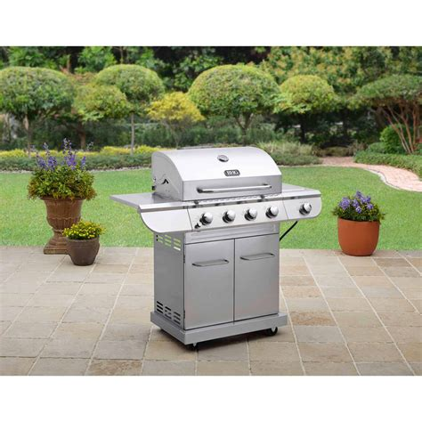 backyard grill stainless steel 4 burner gas grill better homes and gardens stainless steel 4 burner gas grill with dunneiv