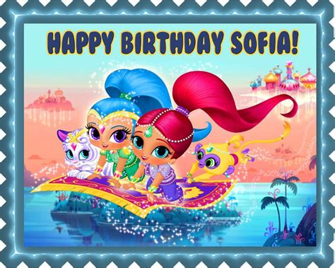 happy birthday to you shimmer and shine step into reading books shimmer and shine edible cake topper cupcake toppers