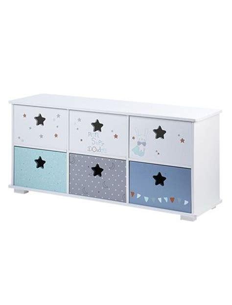 meuble de rangement chambre enfant meuble de rangement 6 bacs doudou blanc vertbaudet