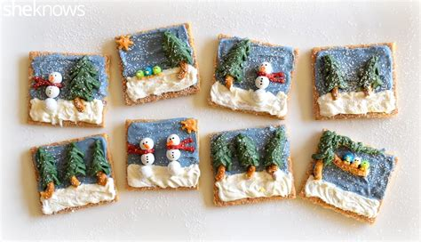 crackers craft turn graham crackers into edible canvases for a winter
