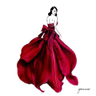 desain gaun fashion show desain gaun dari kelopak bunga sungguhan fashion