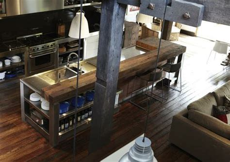 industrial style kitchen island sunnylit style rustic industrial in the