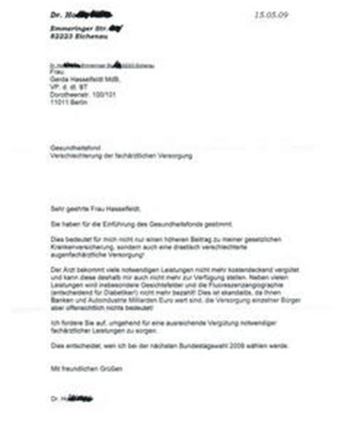 Beschwerdebrief Krankenkasse Muster Dreister Facharzt L 228 Sst Beschwerdebriefe Patienten An Bundestag Schreiben Eichenau