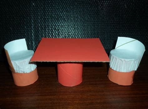 How To Make A Paper Table - doll s table and chairs image 7