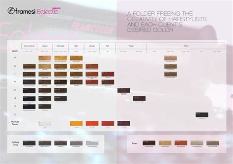 framesi framcolor eclectic color chart 2015 color charts