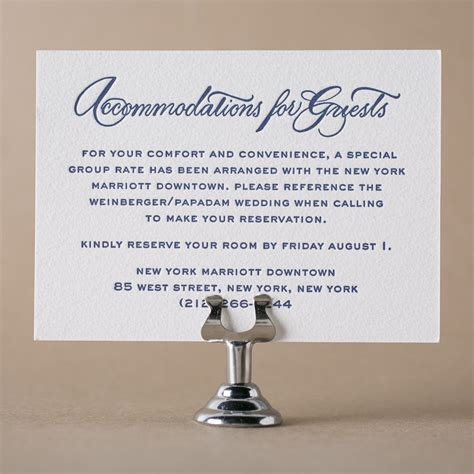 what to write on accommodation cards for wedding letterpress direction and accommodation cards from figura