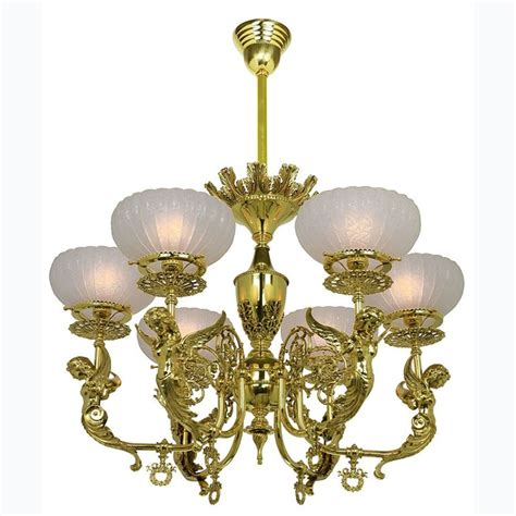 Antique Reproduction Victorian Goddess 6 Light Chandeliers Antique Reproduction Chandeliers