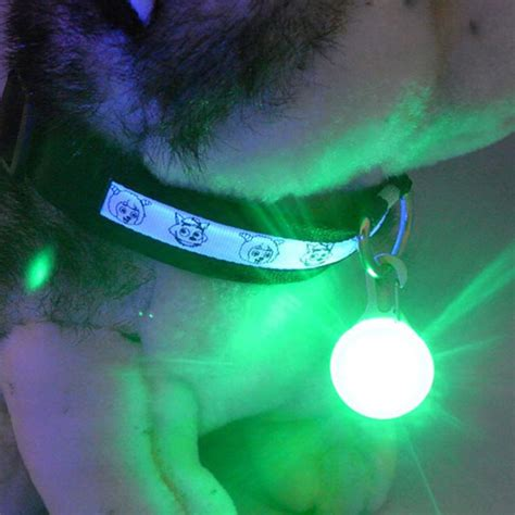 light for collar bright pet led safety flash light for collar push button switch