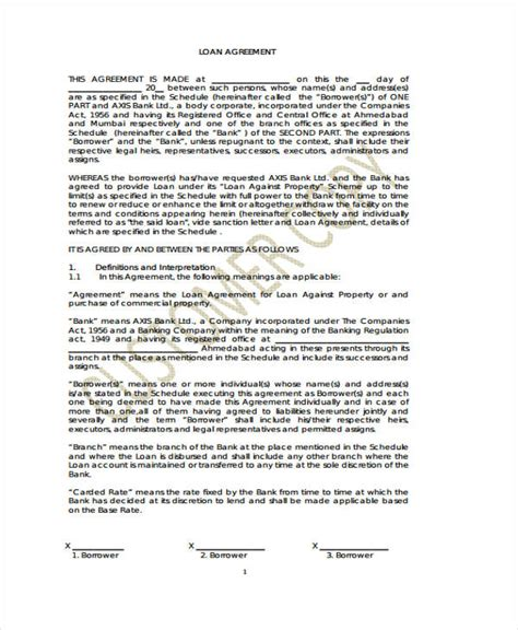 Loan Repayment Letter Agreement Loan Agreement Form Exle 65 Free Documents In Word Pdf