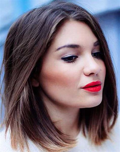 small forhead lob 17 incredible short hairstyles for round faces hairstylesco