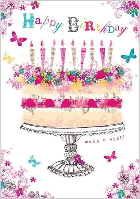 Happy Birthday Cake Images With Quotes Happy Birthday Quote With Cake And Butterflies Pictures