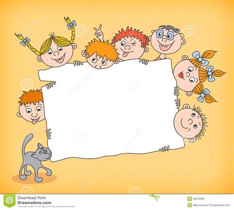 doodle for sign ups doodle holding blank sign stock vector image 36019960
