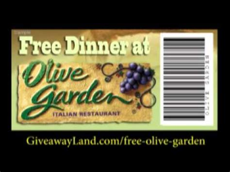 olive garden coupons code 2015 olive garden coupon youtube