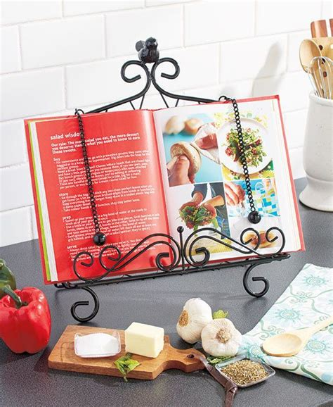 Cookbook Stands For Kitchen by Cookbook Holder Kitchen Book Stand Metal Easel Recipe Cook