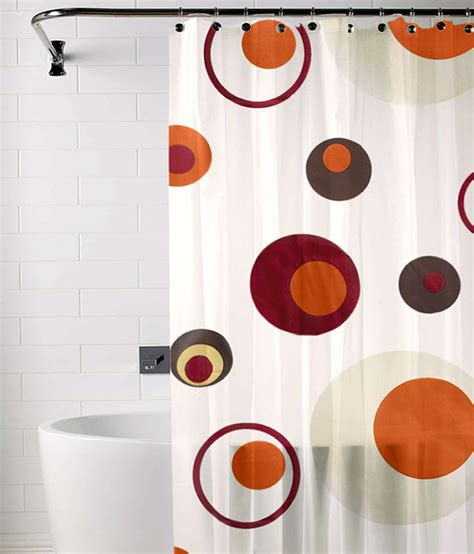 brown and orange shower curtain skipper orange and brown polyester shower curtain buy