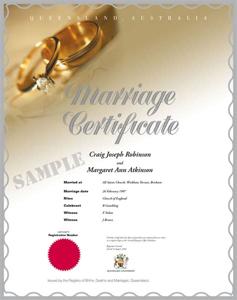Marriage Records Queensland Birth Certificate Template Out Of Darkness