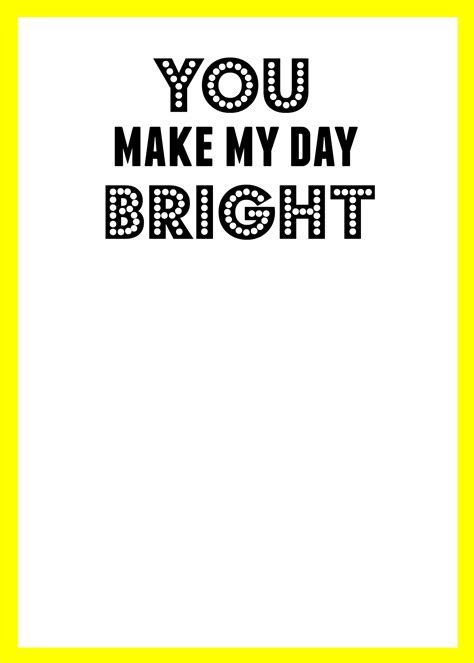 My Day by You Make My Day Bright Glasses Printable