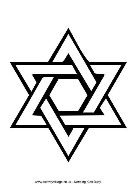 printable star of david pictures star of david colouring page