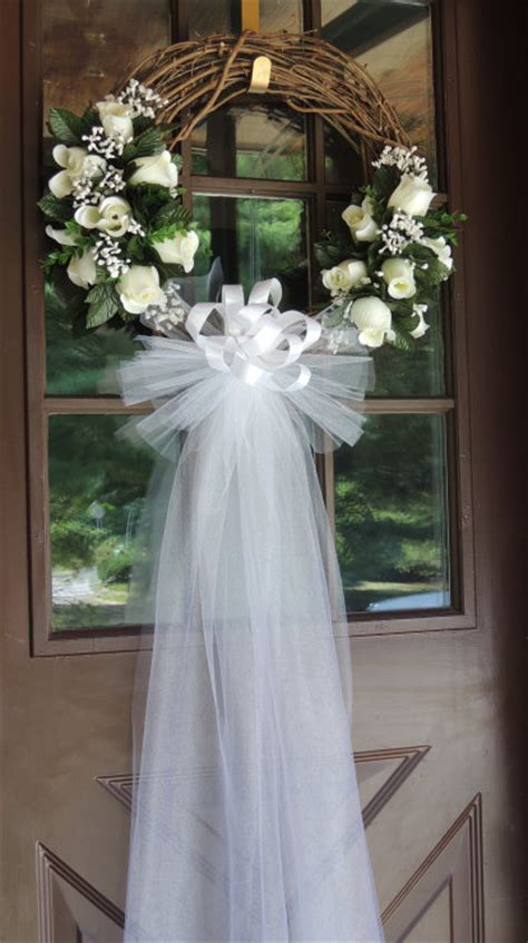 wedding wreaths for front door white wedding door wreath grapevine wreath bridal