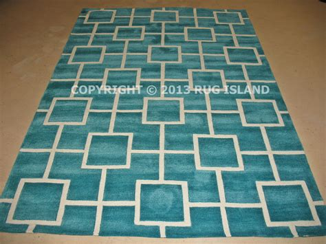 Teal Area Rug 5x8 5x8 5 X 7 6 Quot Thick Contemporary Modern Geometric Aqua Teal Blue Area Rug Ebay
