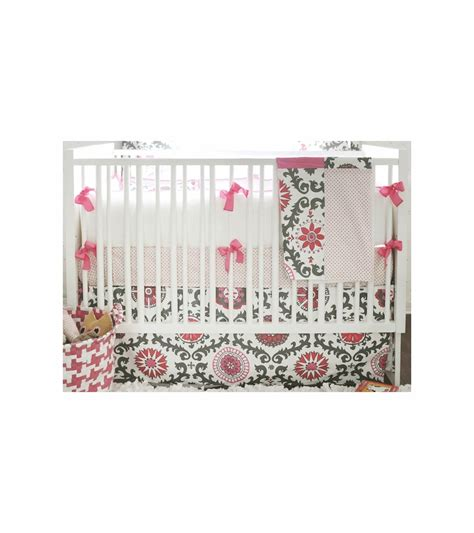 Pink Crib Bumper Set by New Arrivals Ragamuffin Pink 2 Baby Crib Bedding Set