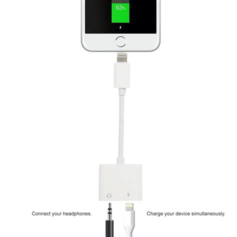 Adaptor Iphone 7 Lightning Cable Port Audio Audio Adaptor Headset lightning to headphone adapter charging cable iphone 7
