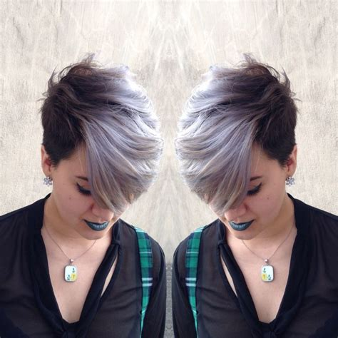Eyeliner Silver Pixy image result for pixie cut with silver hair and makeup