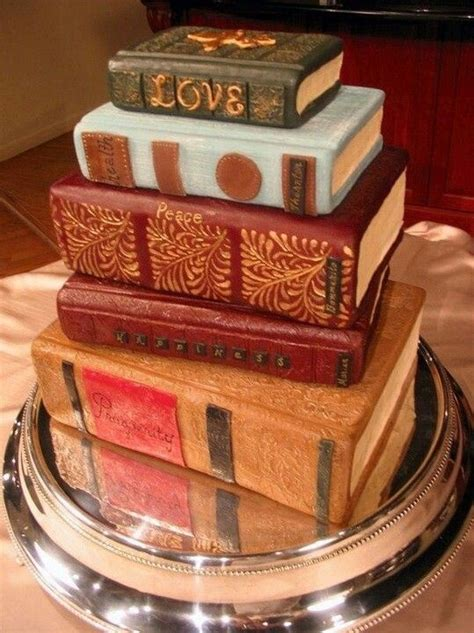 Book Themed Cakes | book cake library themed wedding books pinterest