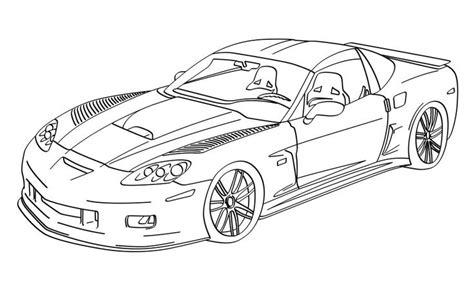 Print A Drawing Of 2016 Corvette Corvette C6rs Lineart Corvette Coloring Pages