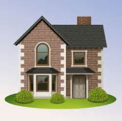 Home Design Elements Brick House Vector Illustrations Pixempire