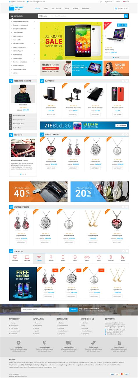 shoppystore multipurpose ecommerce html5 template by