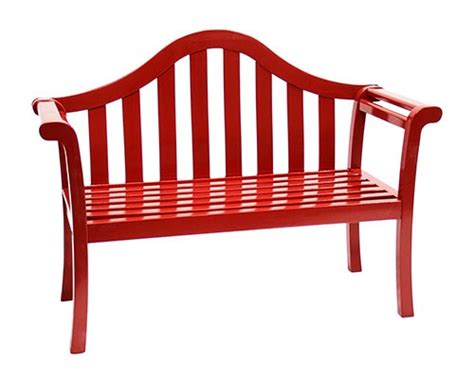red bench contemporary glossy red arched porch bench patio