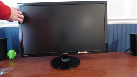 asus vs248h p 24 inch hd lcd monitor unboxing