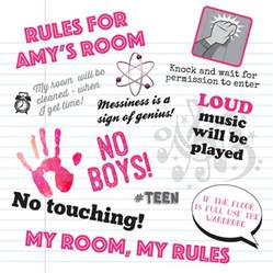 Bedroom Rules Teenager Personalised Bedroom Rules By Applemint Designs