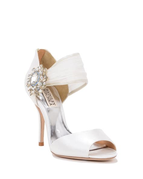 badgley mischka galya embellished evening shoe in